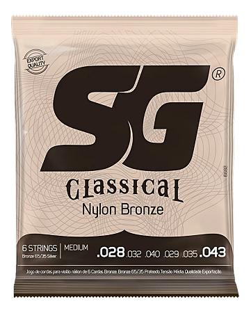 Encordoamento SG Violão Nylon 028 Classical Bronze Medium