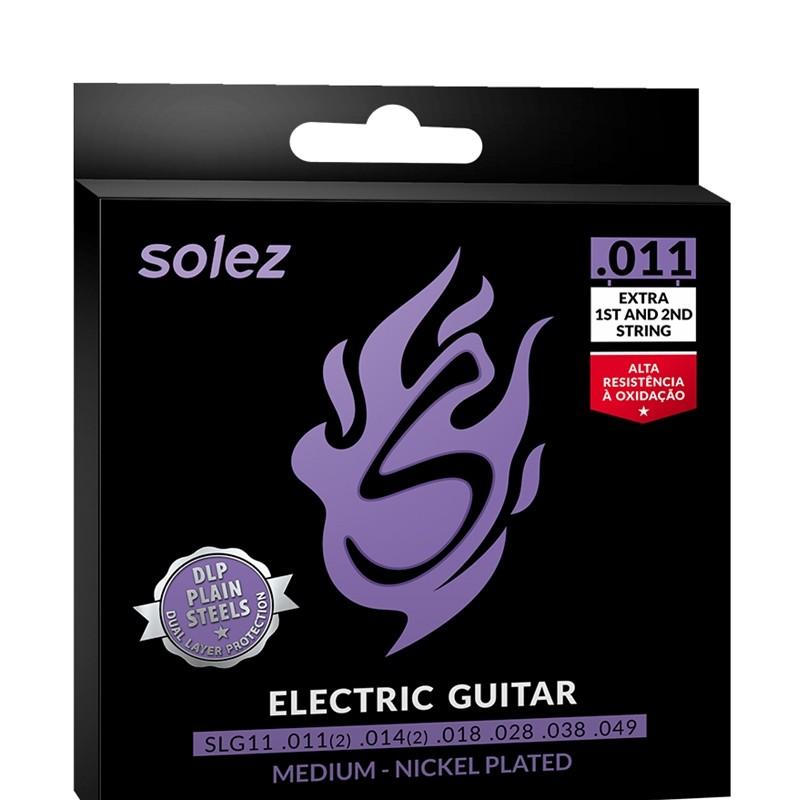 Encordoamento Guitarra 011 Solez DLP