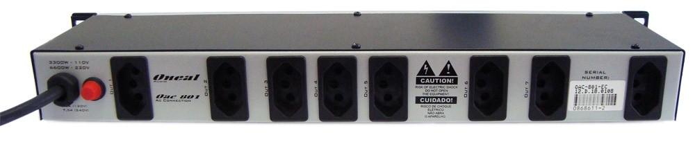 Filtro Protetor Oneal OAC801D Regua De Força 9 Tomadas C/ Display