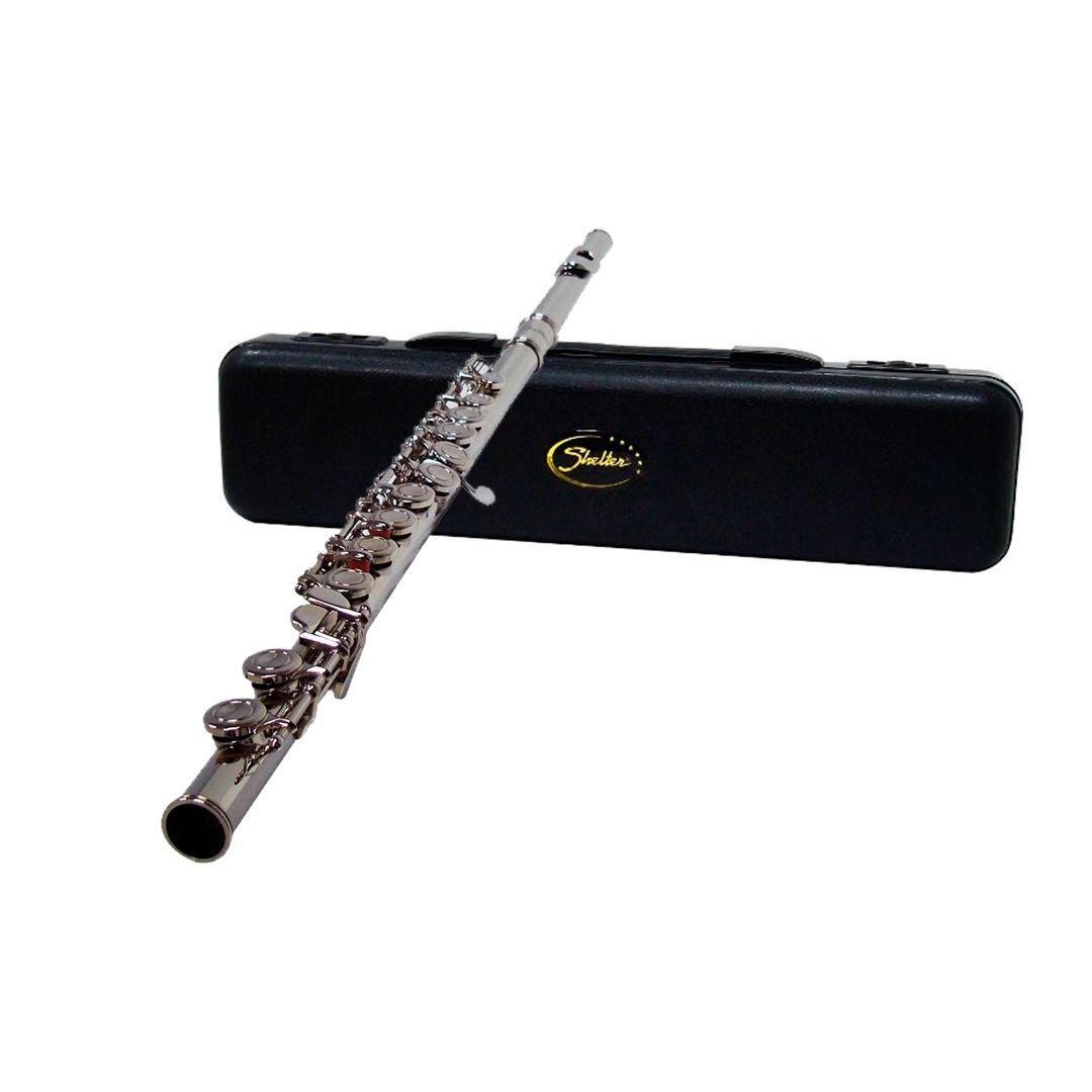 Flauta Transversal Shelter Tjs6456 Niquelada + Case