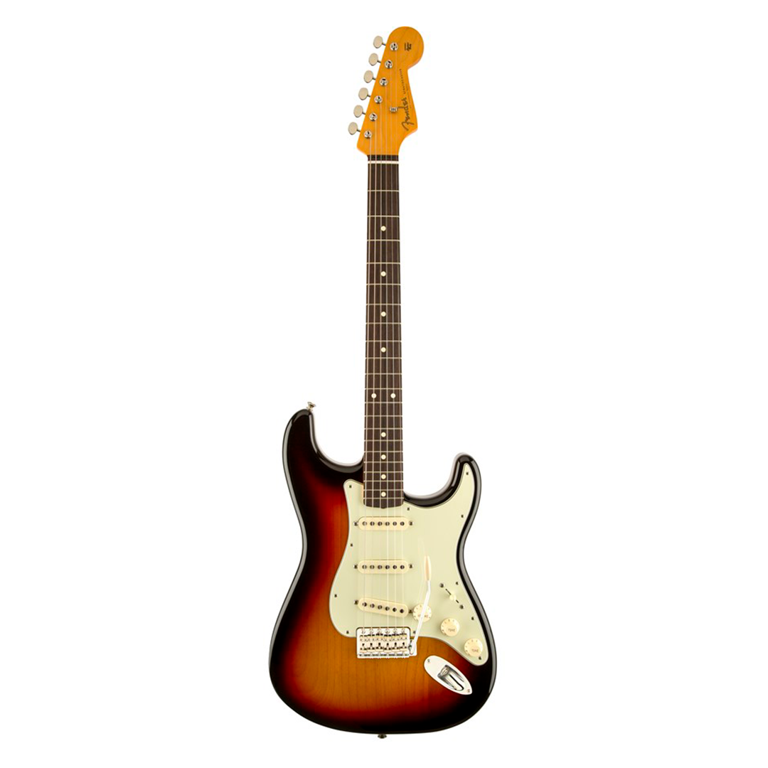 Guitarra Fender Stratocaster Mex 60s Lacquer Sunburst com Case 014 0062 700