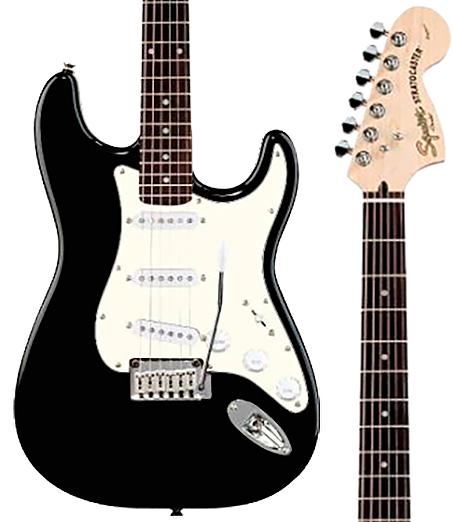 Guitarra Fender Squier 032 1600 565 Standard Stratocaster Black Metallic