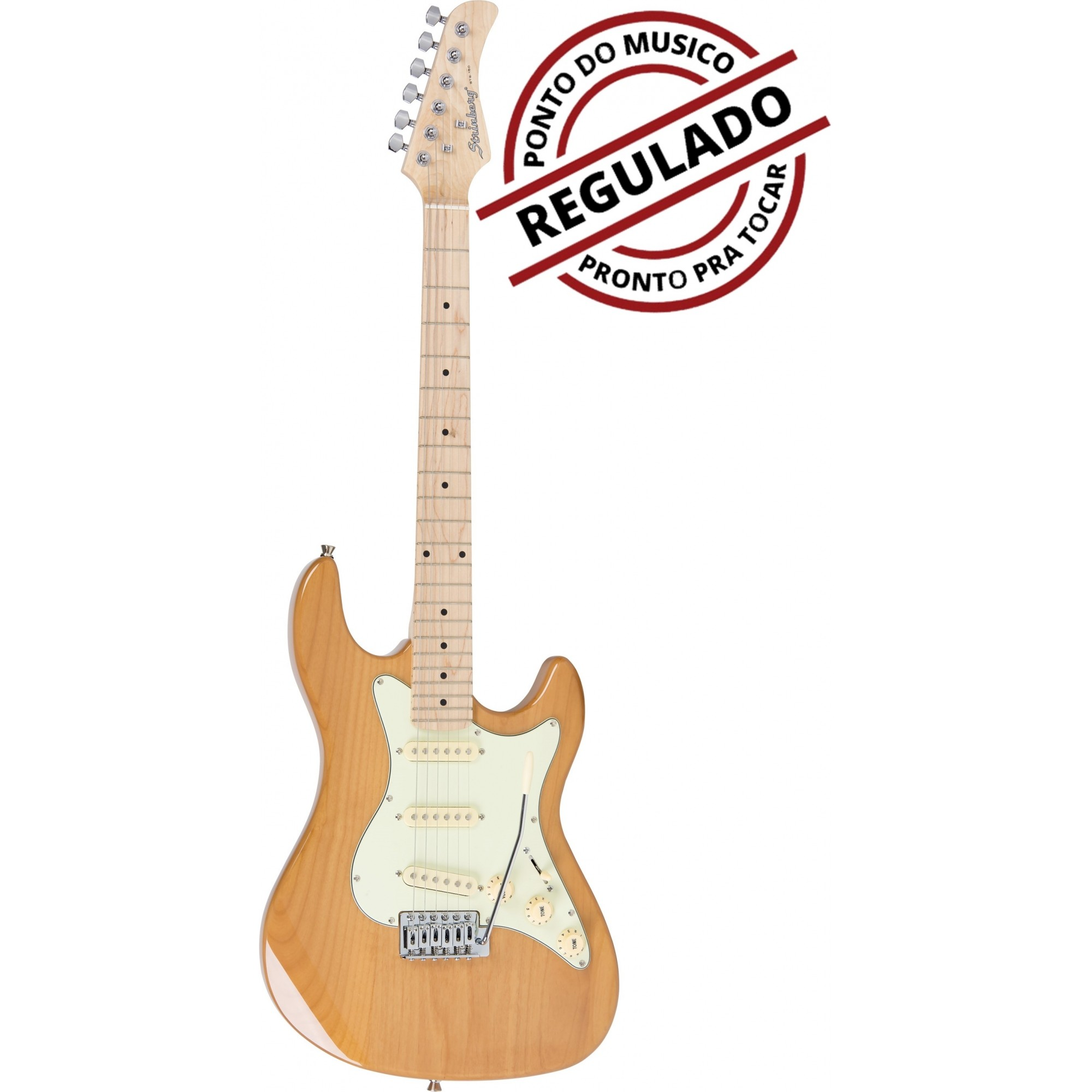 Guitarra Strato Strinberg STS150 Natural Regulada