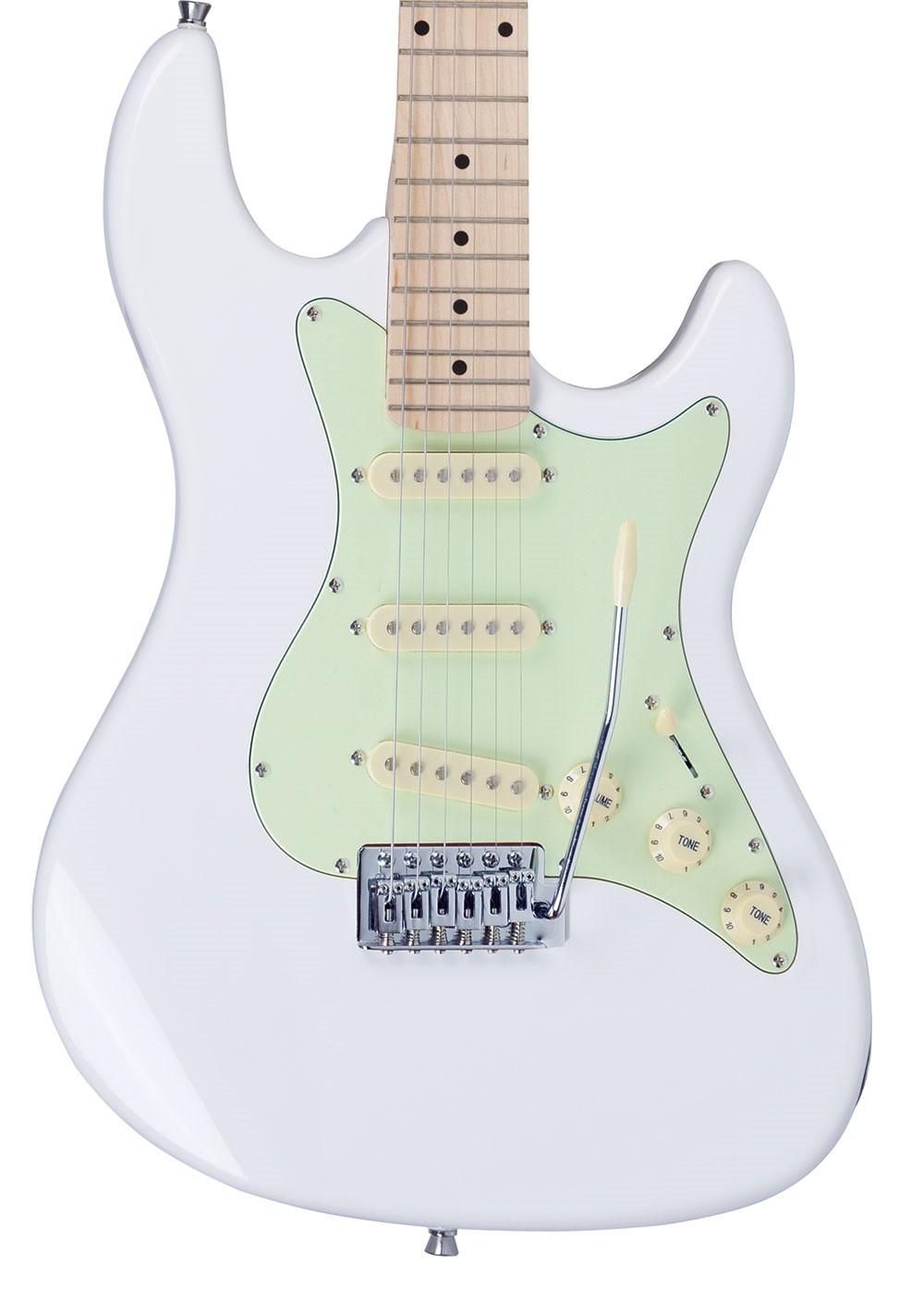 Guitarra Strinberg Sts100 Strato Branca   Regulada