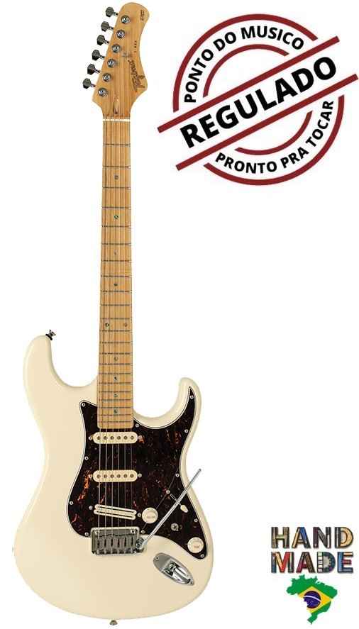 Guitarra Strato Tagima T805 Olympic white / Tortoise Hand Made In Brasil