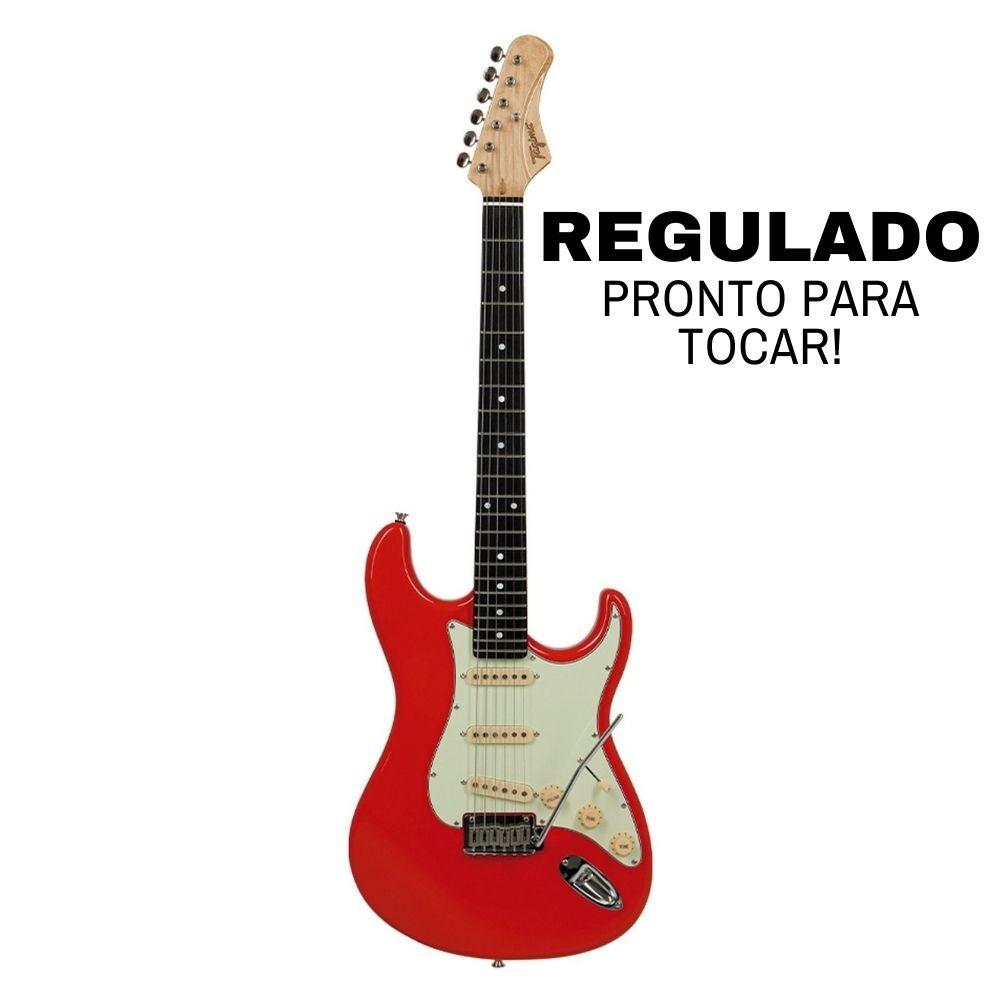 Guitarra Stratocaster Tagima EA-PRO 3 Fiesta Red Signature Edu Ardanuy Regulada - Outlet Premium