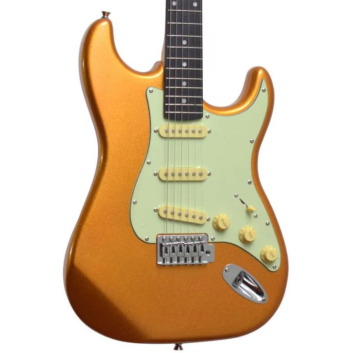 Guitarra Stratocaster Tagima TG-500 Metallic Gold Regulada - Outlet Premium