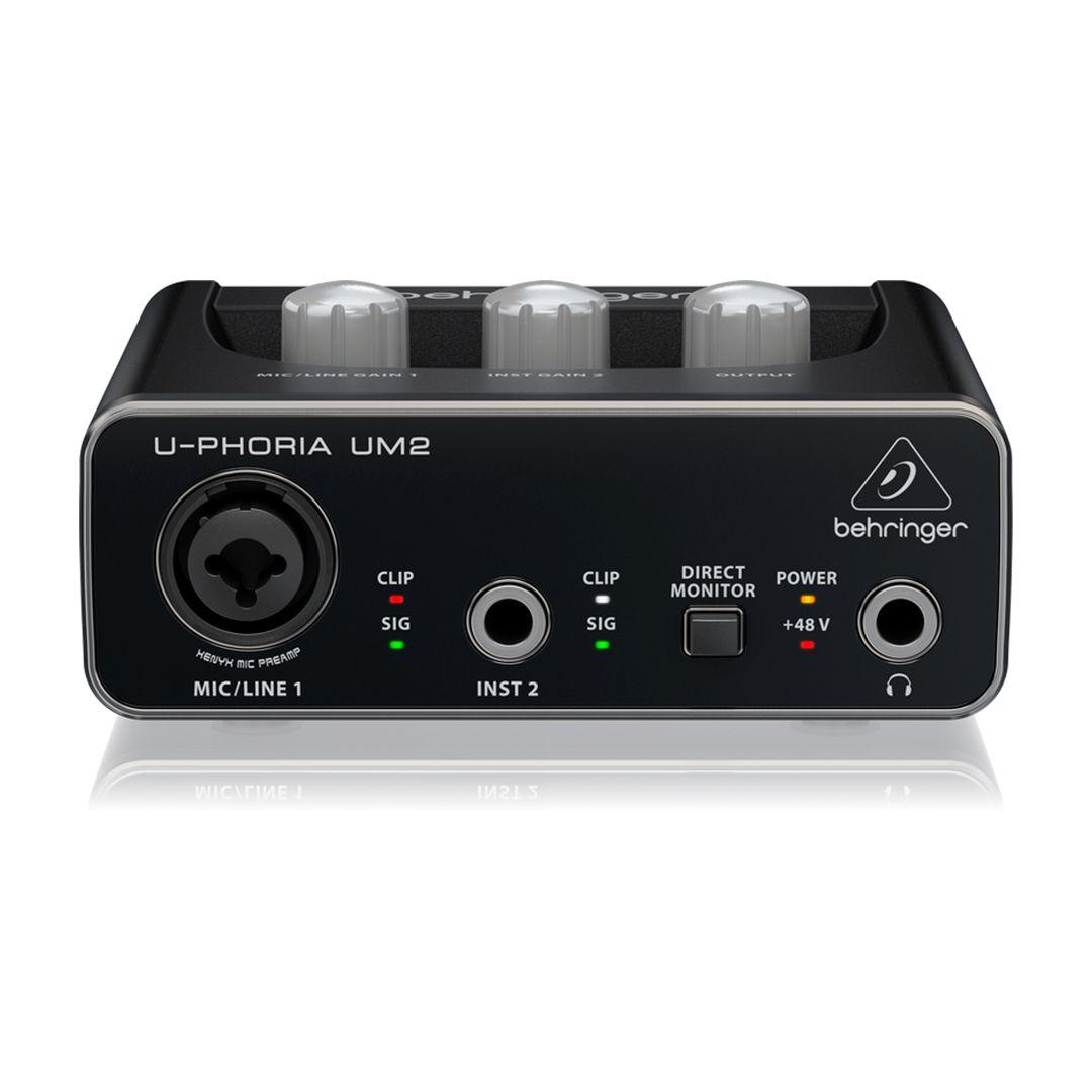 Interface De Áudio Behringer U-phoria Um2 Usb 2 Anos Garantia