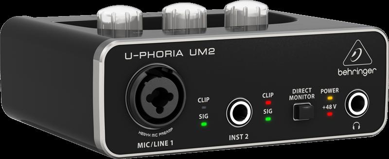 Interface De Áudio Behringer U-phoria Um2 Usb