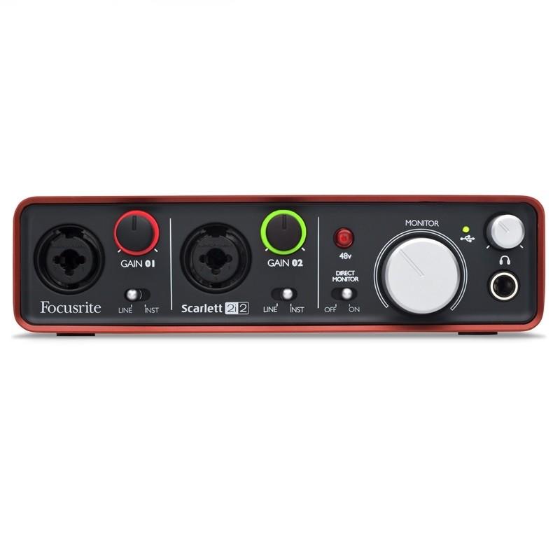 Interface de Áudio Focusrite Scarlett 2i2 Usb