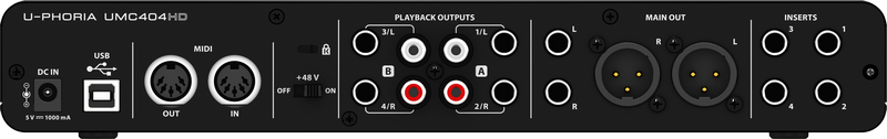 Interface de audio - UMC404HD - Behringer