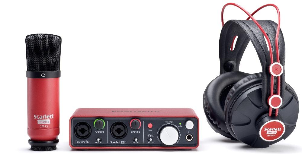 Kit Gravação Focusrite Scarlett Studio C/ Placa   Microfone   Fone