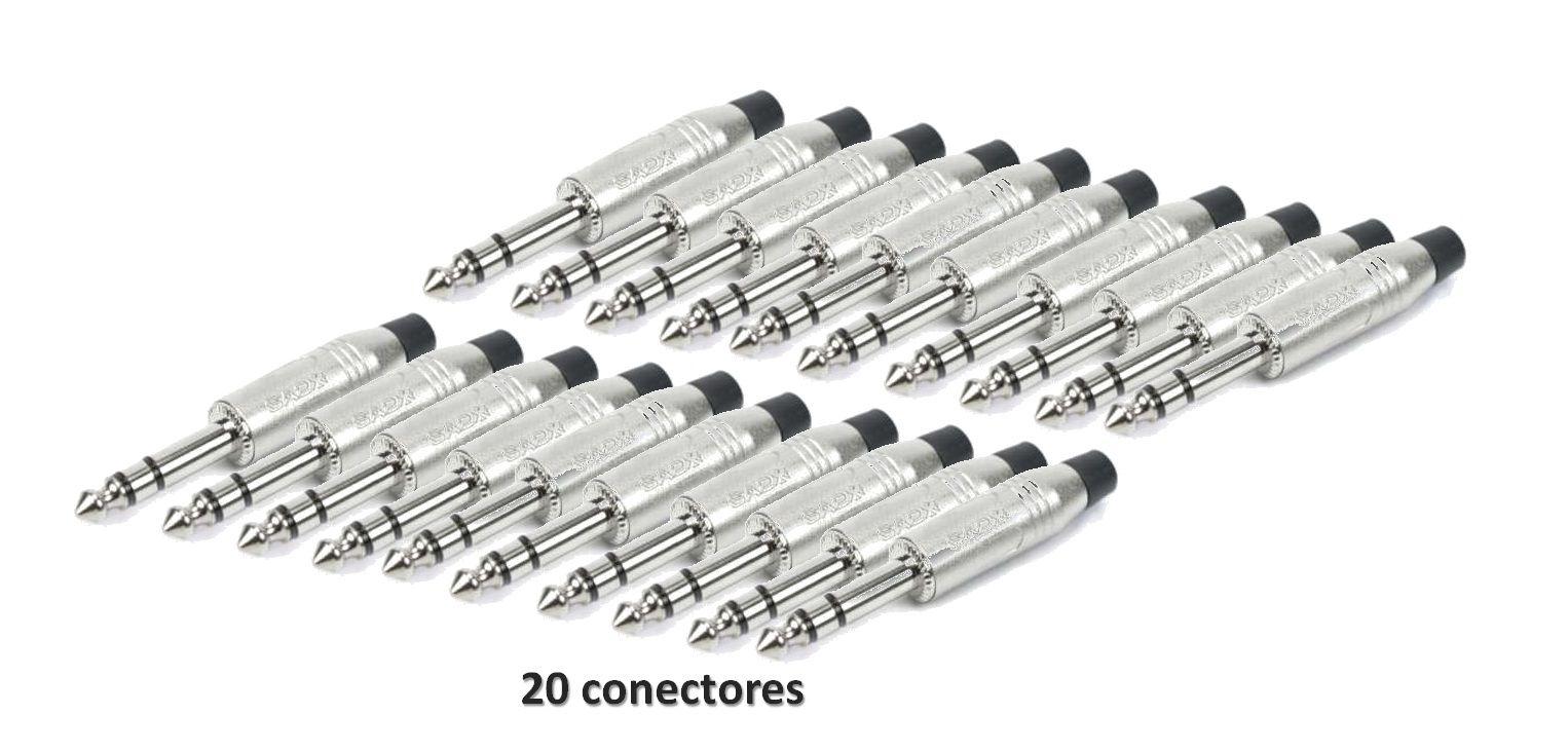 KIT 20 Conector Santo Angelo SA2X P10 Estereo Niquelado