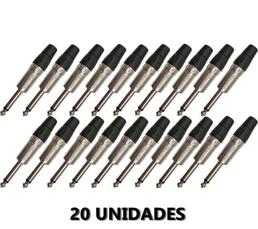 Kit 20 Plug P10 Mono Conector Wireconex