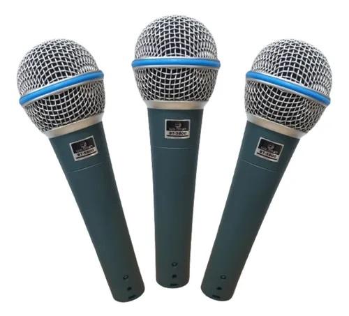 Kit 3 Microfones Waldman Bt5800-3 Broadcast Supercardioide