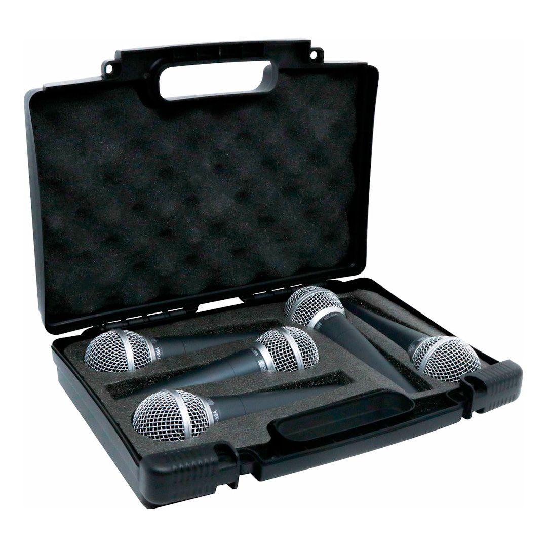 Kit 5 Microfones CSR HT58A Unidirecional Com Case