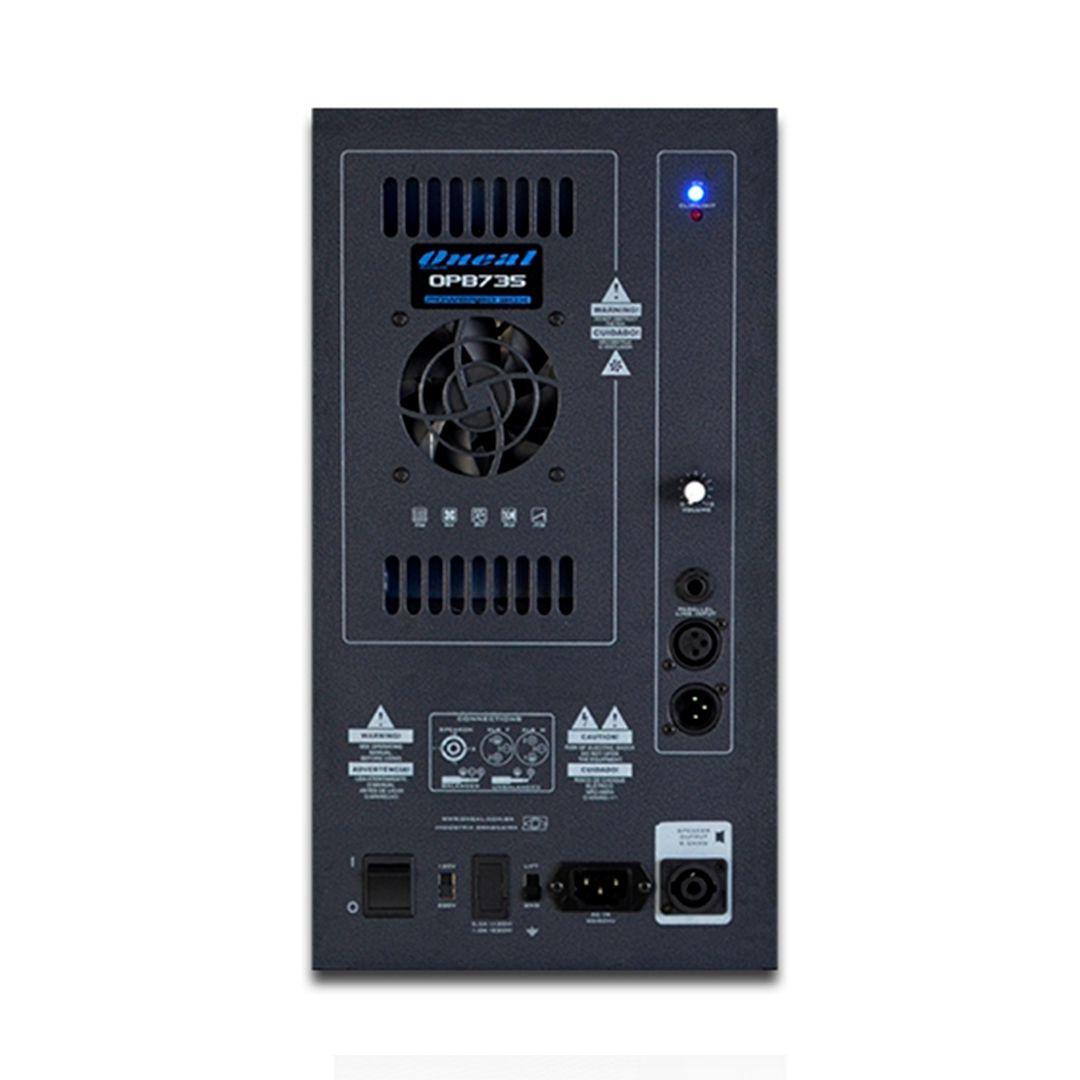 Kit Caixa Ativa Oneal OPB735 12 200w Bivolt + Caixa Passiva OB735 200w