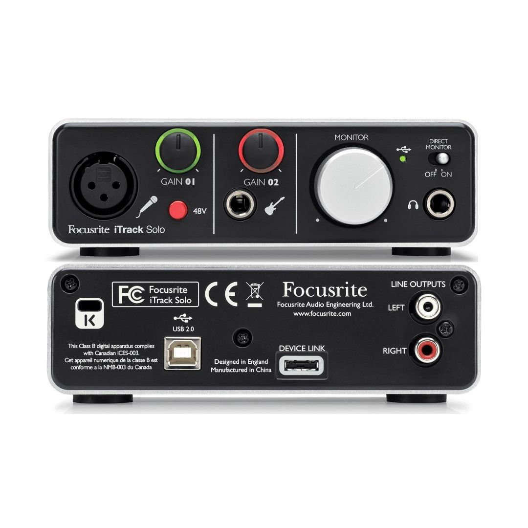 Interface Focusrite Itrack Studio 2 Anos Garantia