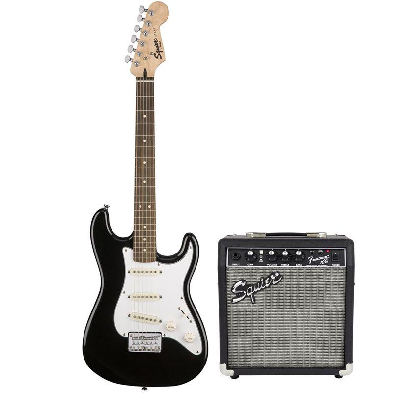 Kit Guitarra Fender 030 1812 006 Squier Affinity Stratocaster Short Scale + Cubo Fender Frontman 10G