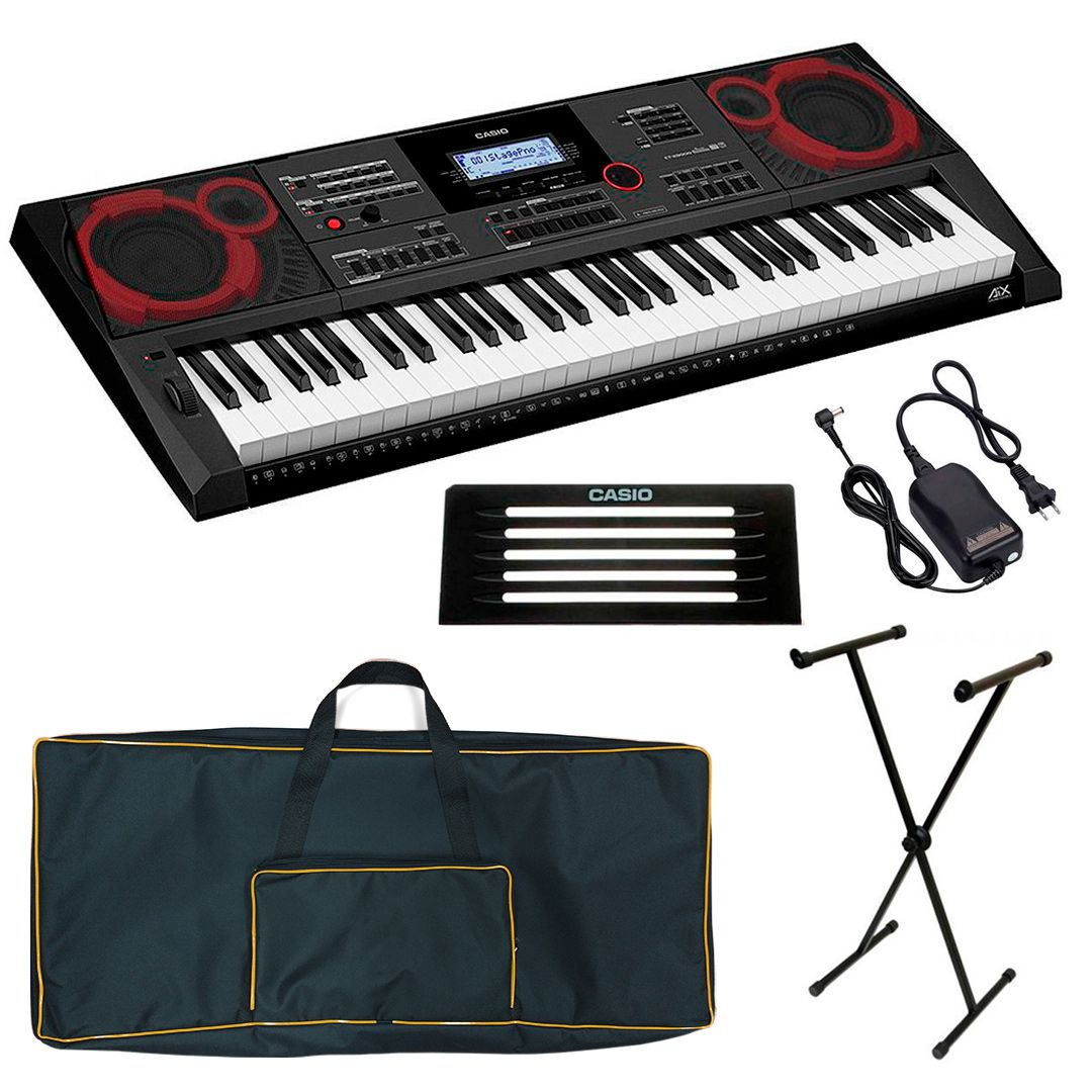 Kit Teclado Casio Ctx 5000 + Bag + Estante X