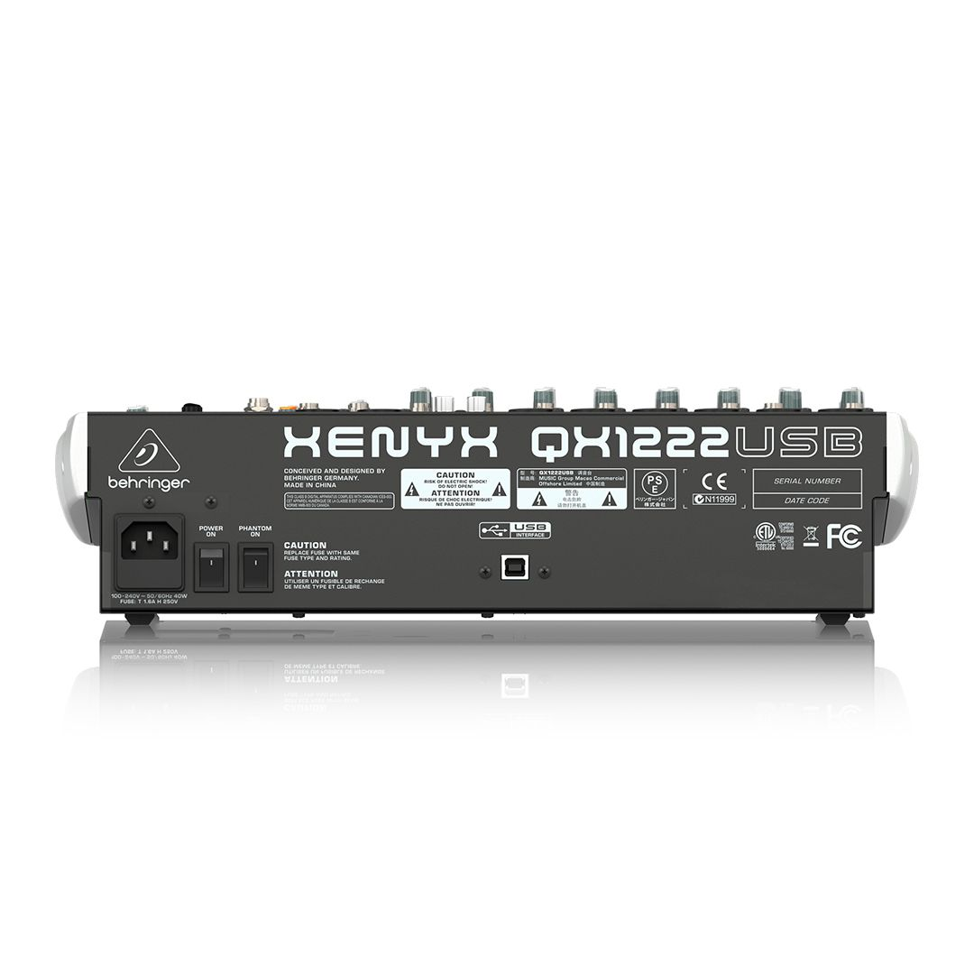 Mesa de Som 12 Canais Behringer Xenyx QX1222 USB