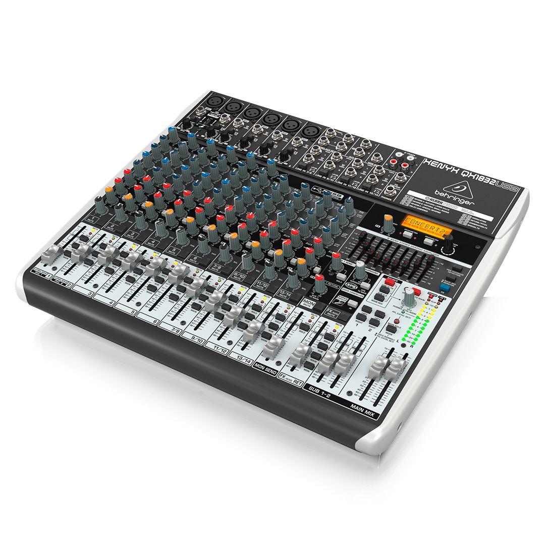 Mesa de Som 22 Canais Behringer Xenyx QX2222 USB