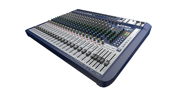 Mesa De Som Analógica Soundcraft Signature 22 Canais Usb