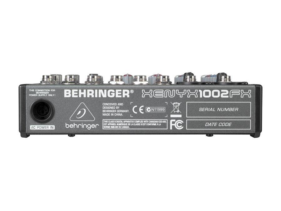 Mesa De Som Behringer Xenyx 1002FX 10 Entradas 2 Anos Garantia