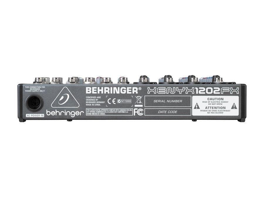 Mesa De Som Behringer Xenyx 1202FX 12 Entradas C/ Efeitos 2 Anos Garantia
