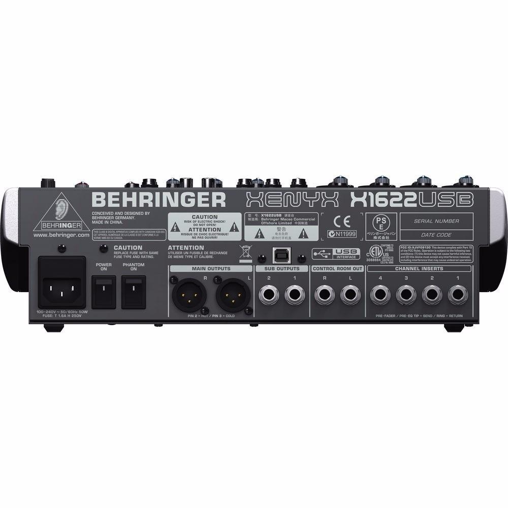 Mesa De Som Behringer Xenyx X1622 Usb 16 Canais C/ Efeitos