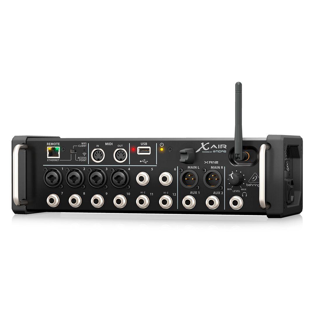 Mesa De Som Digital Behringer X Air XR12 Mixer 12 Canais 2 Anos Garantia