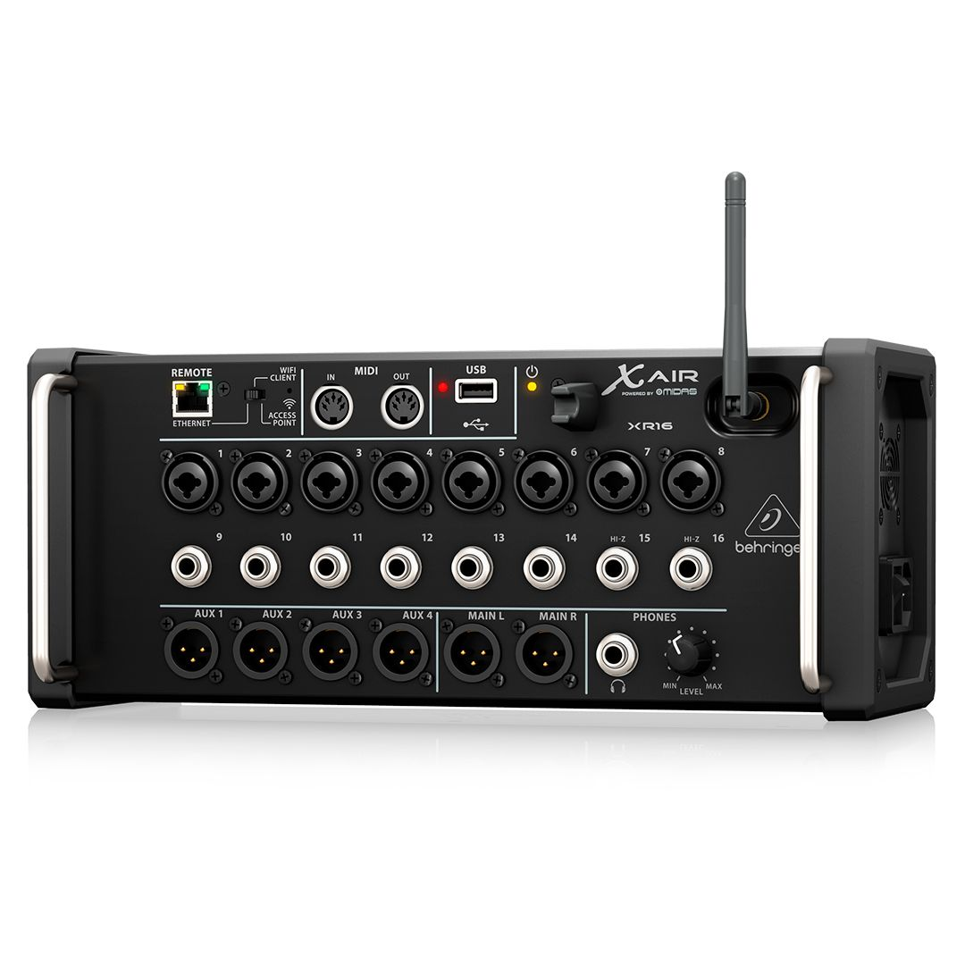 Mesa De Som Digital Behringer X Air XR16 Mixer 16 Canais 2 Anos Garantia