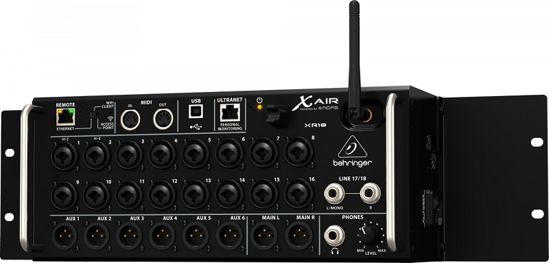 Mesa De Som Digital Behringer X Air XR18 Mixer 18 Canais 2 Anos Garantia