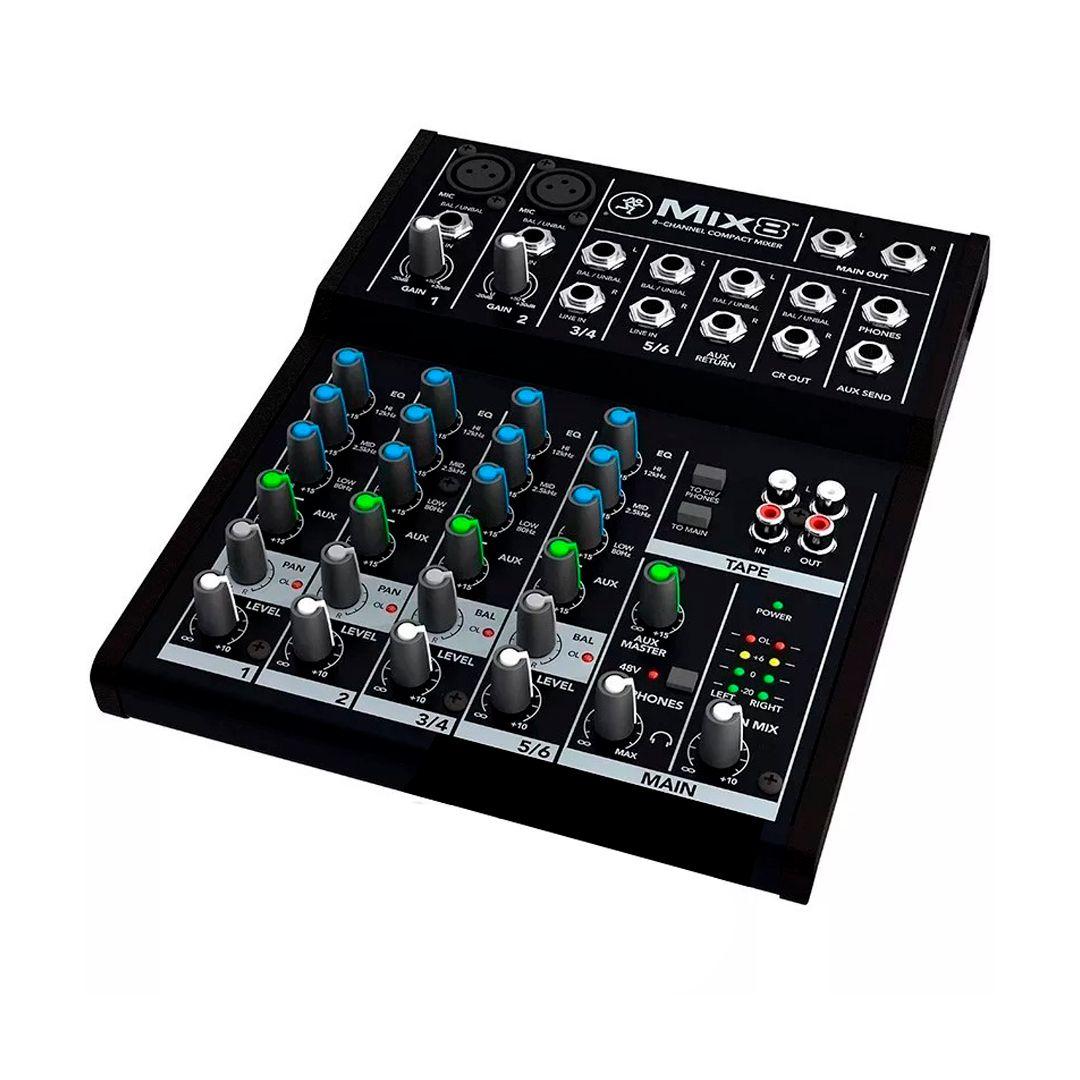 Mesa De Som Mackie Mix 8 6 Canais C/ Phantom Power 48v