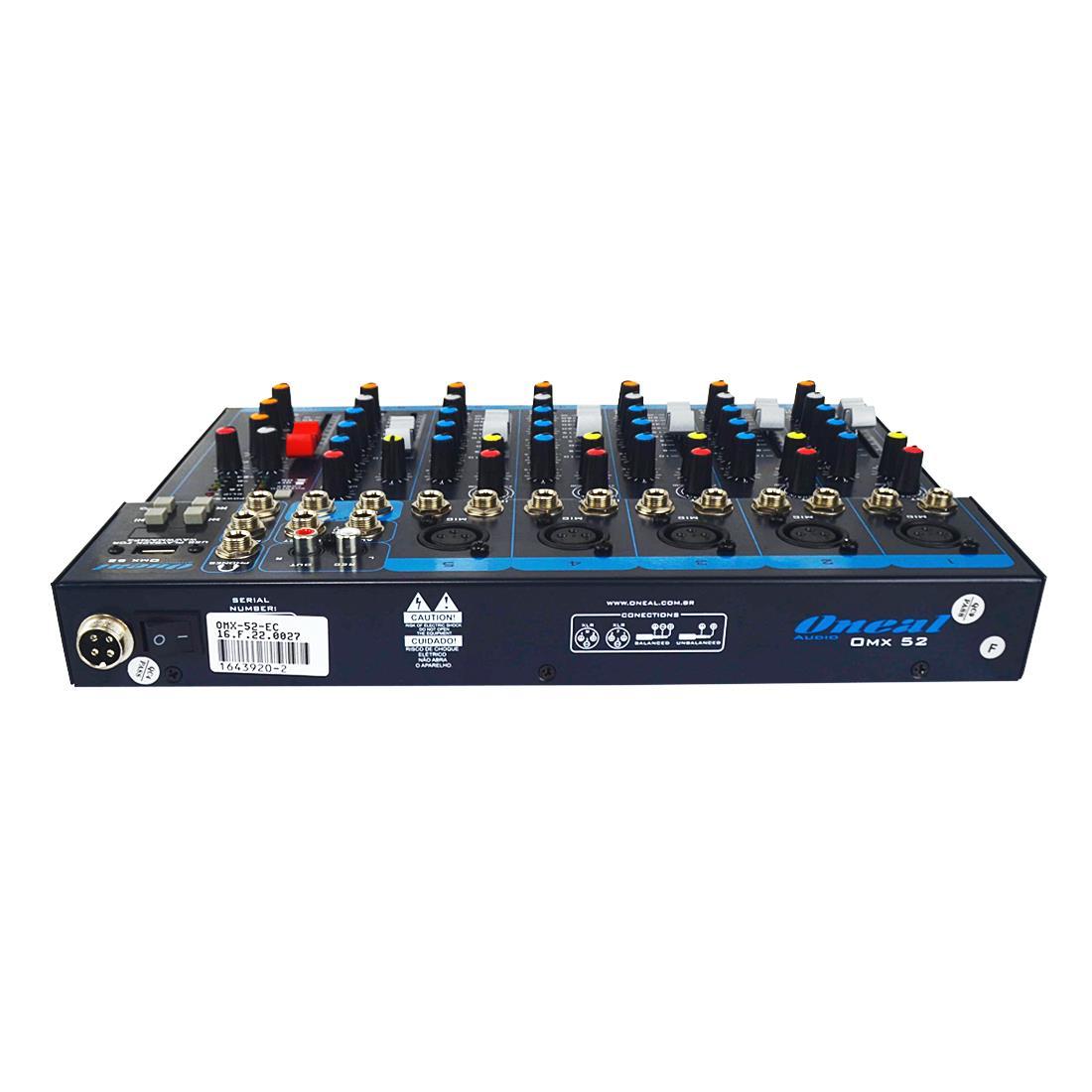 Mesa De Som Oneal OMX52 USB 5 Canais