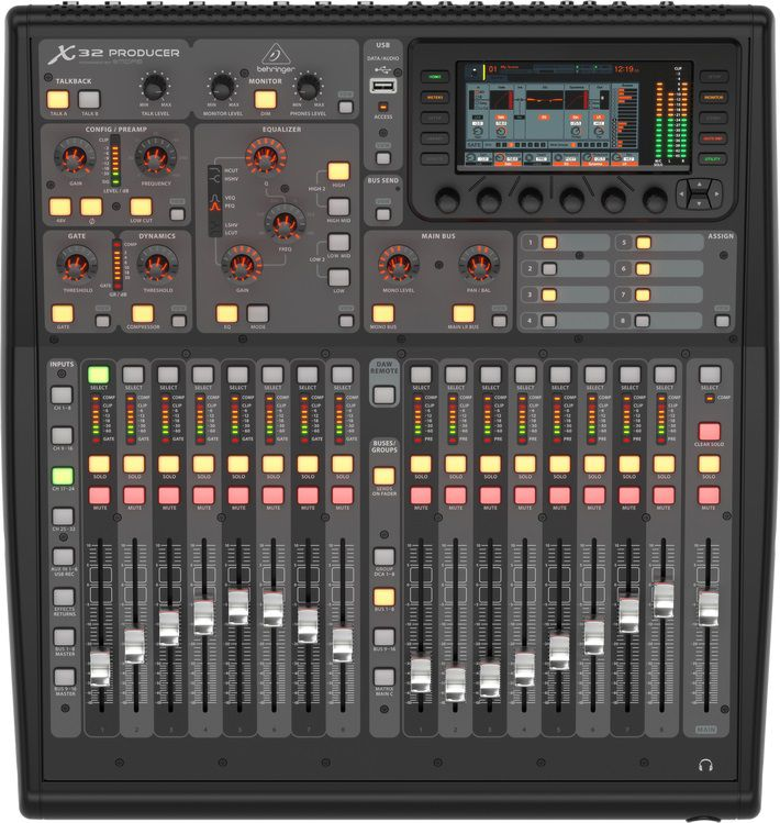 Mesa Som Digital Behringer X32 Producer