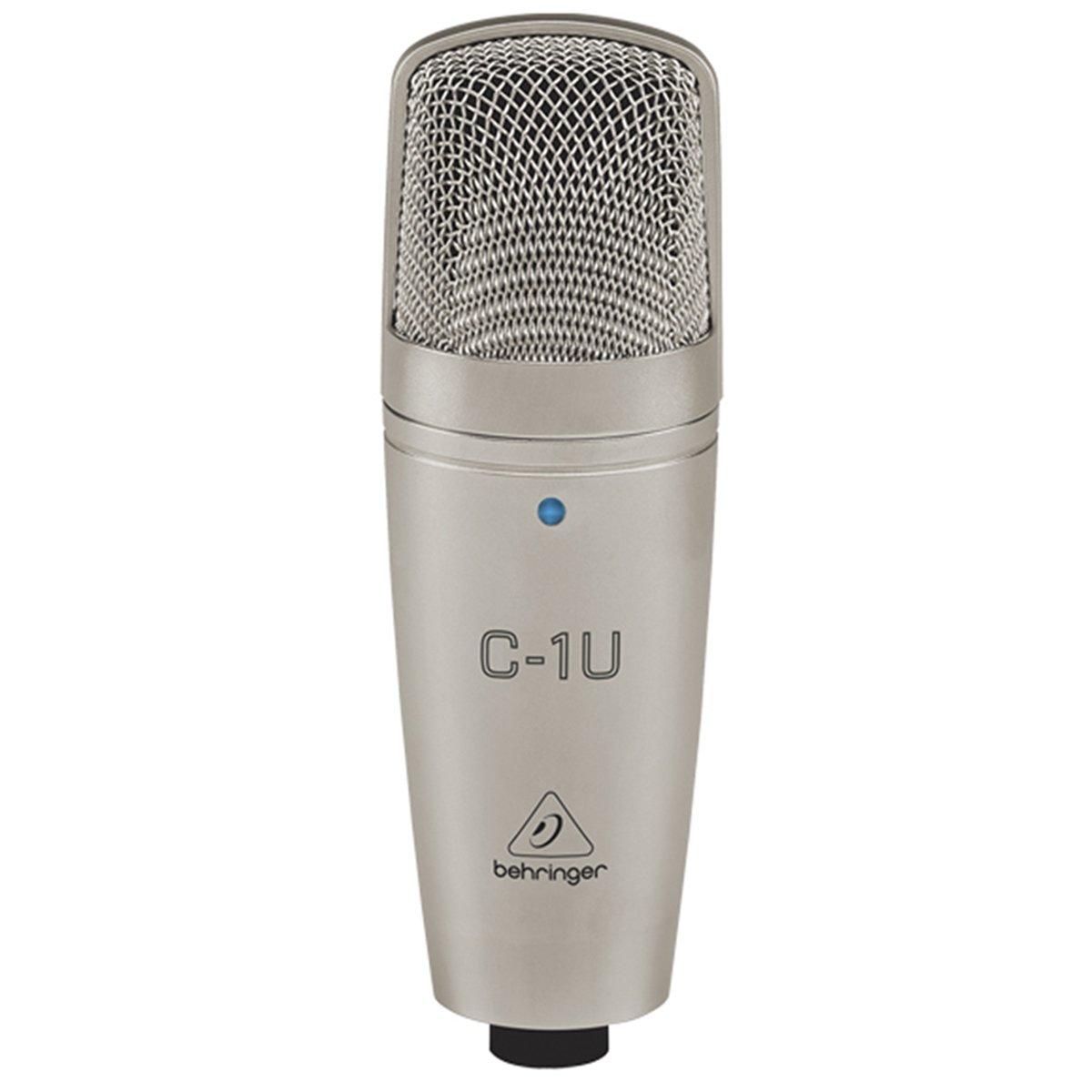 Microfone Condensador Behringer C1U Estúdio C/ Cabo Usb