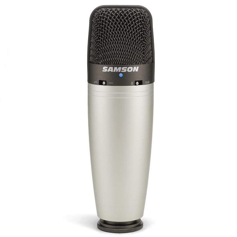 Microfone Condensador Samson C03 Com Case