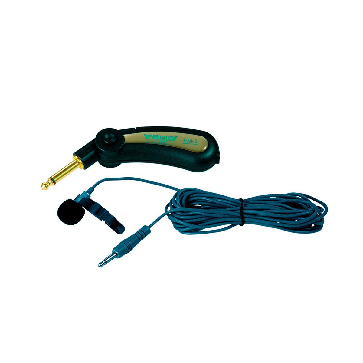Microfone De Lapela Yoga Em3 Ominidirecional