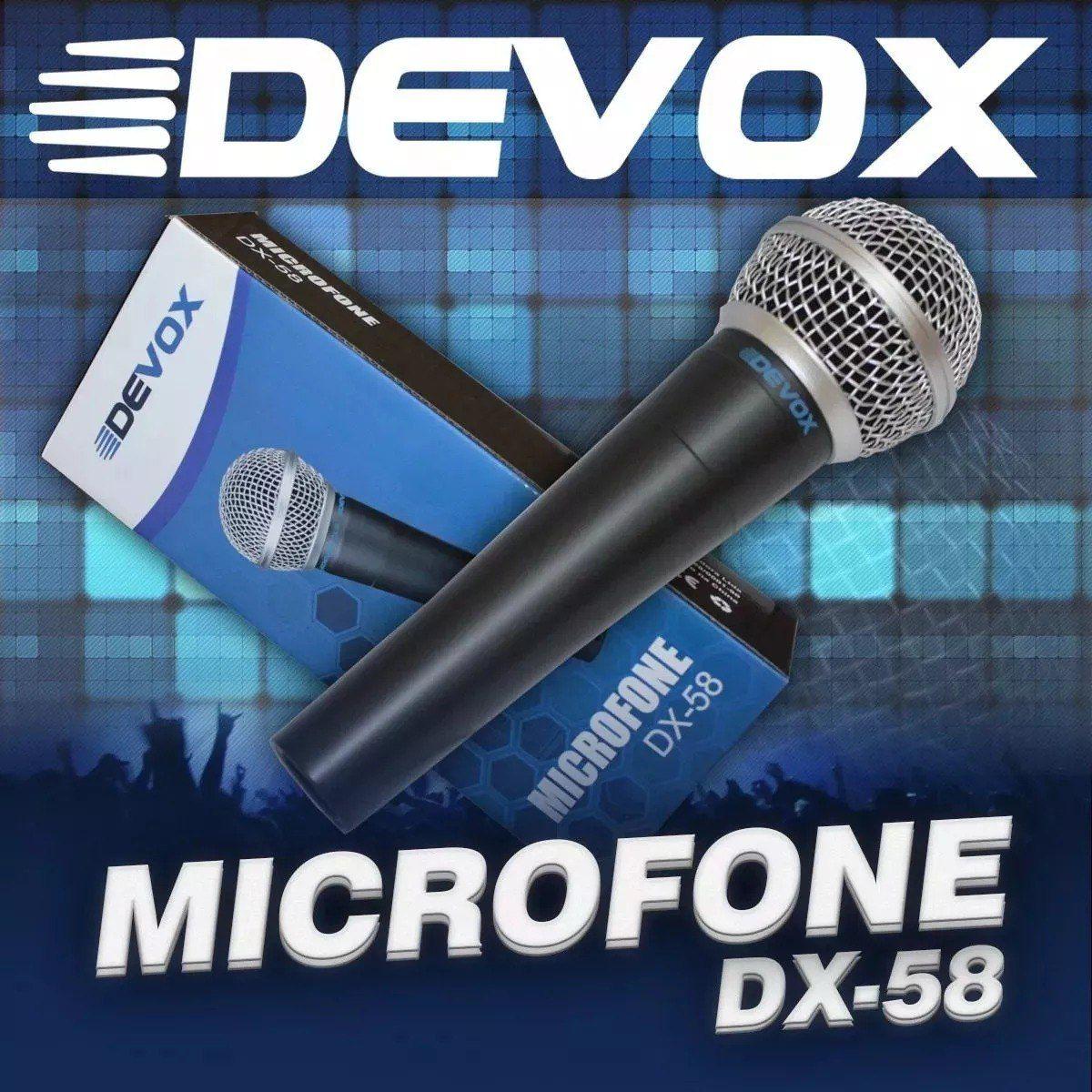 Microfone Dinâmico Devox DX58 C/ Cabo