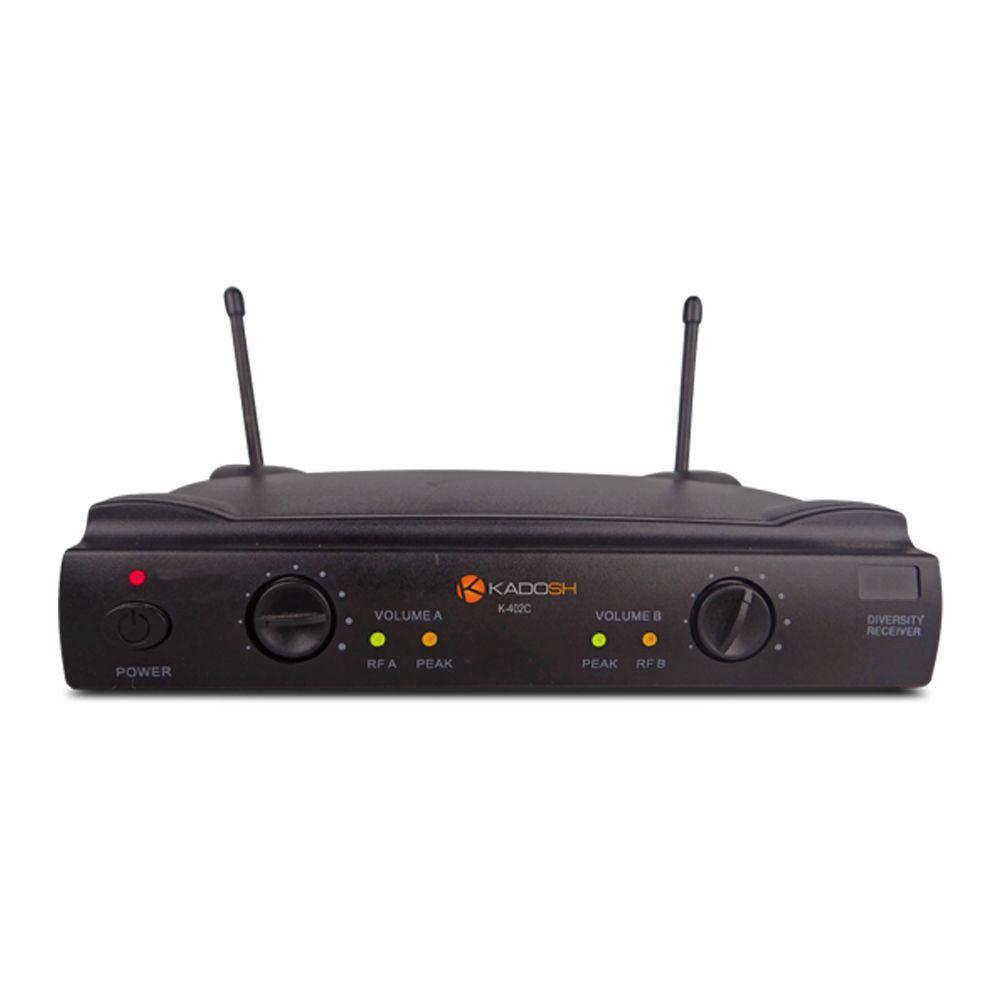 Microfone Duplo Sem Fio Kadosh K402HH Headset