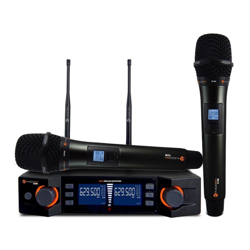 Microfone Sem Fio Duplo Kadosh K492M Digital