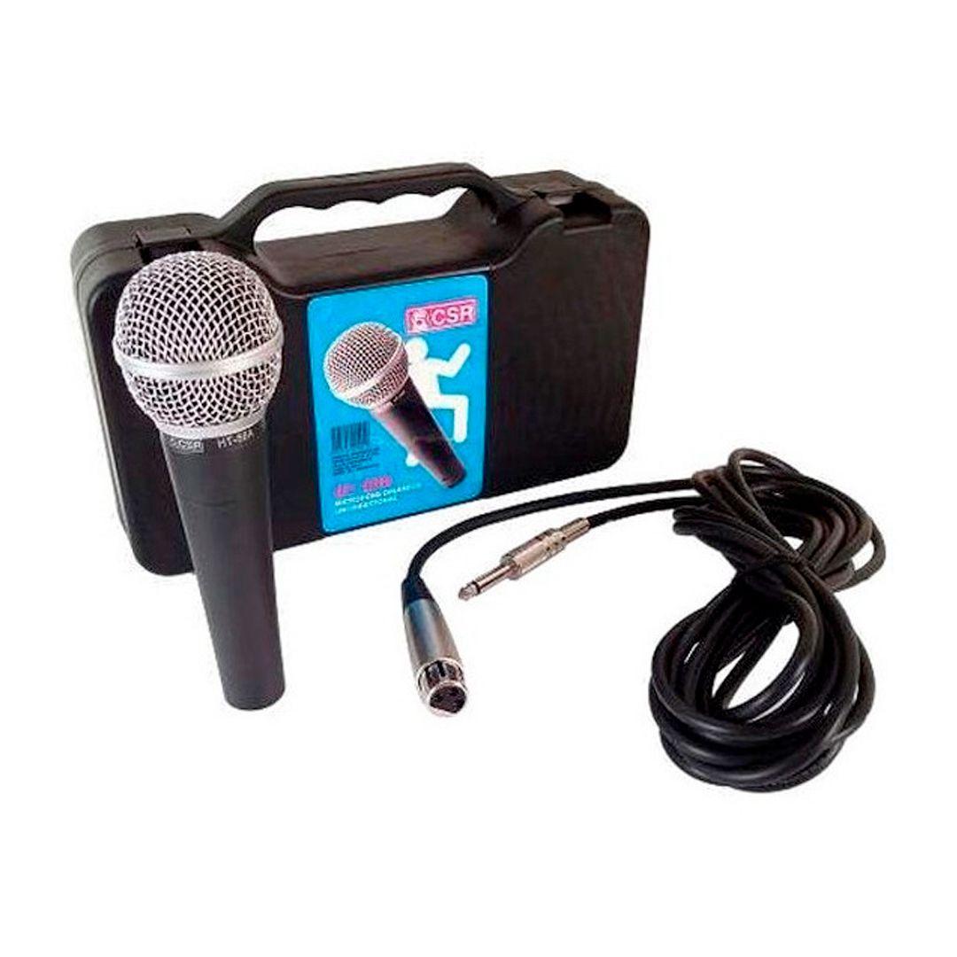 Microfone Profissional CSR HT58A Unidirecional C/ Cabo + Maleta