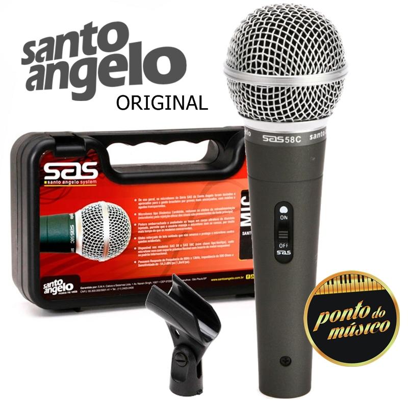 Microfone Profissional Dinâmico Santo Angelo Sas 58c