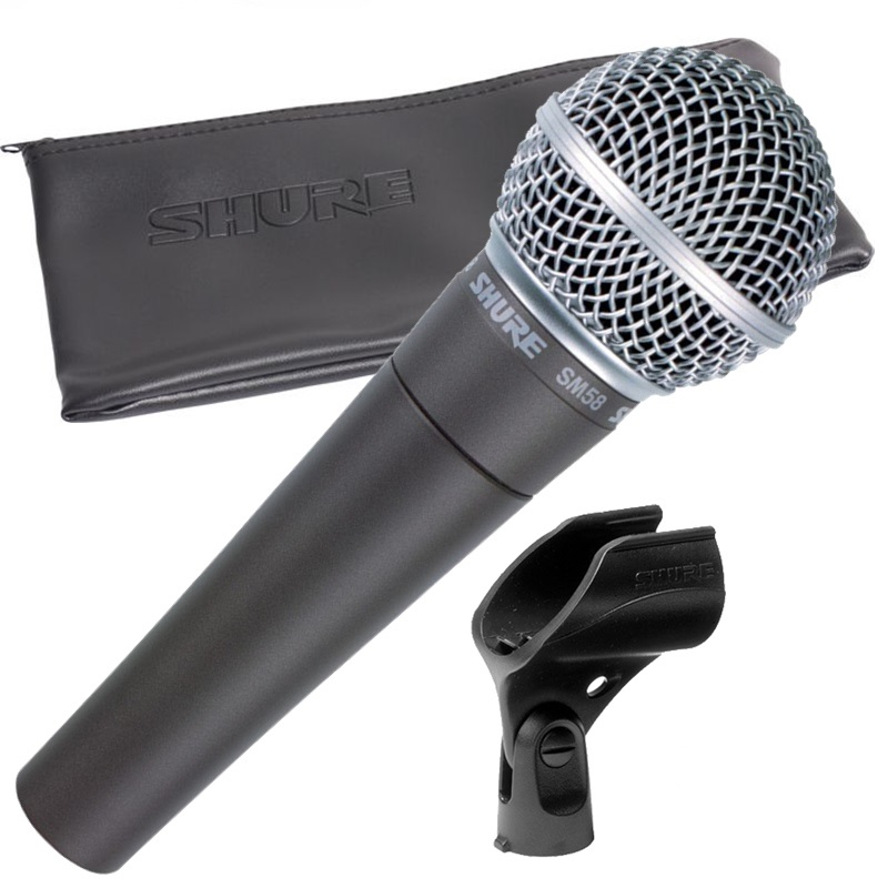 Microfone Shure SM58 LC Vocal Cardioide C/ Bag