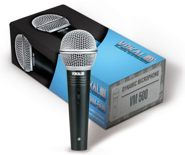 Microfone Profissional Vokal VM500 C/ Cabo