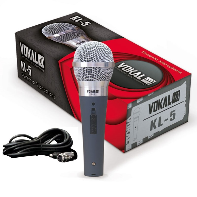 Microfone Profissional Vokal KL5 C/ Cabo