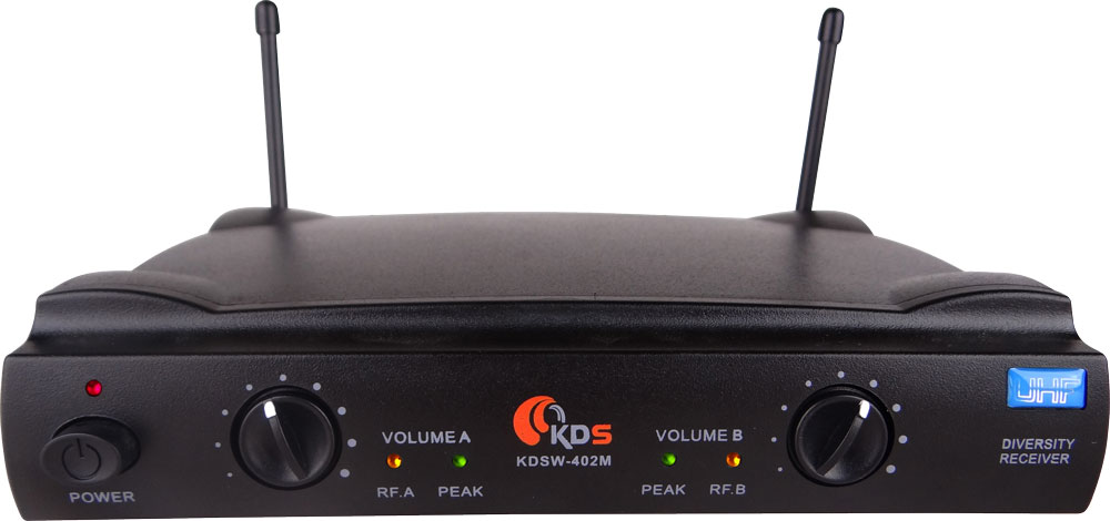 Microfone Sem Fio Duplo Kadosh KDSW 402M De Mão Uhf