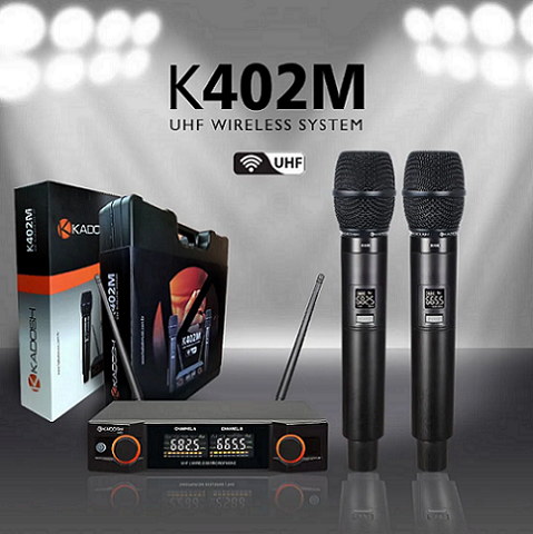 Microfone Sem fio Duplo Kadosh K402M Digital