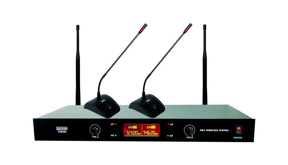 Microfone Sem Fio Gooseneck UHF CSR-820B